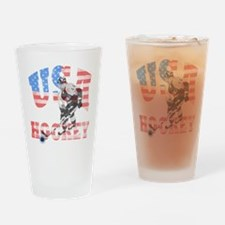 USA hockey Drinking Glass