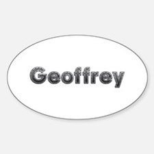 Geoffrey Metal Oval Decal