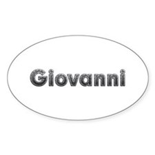 Giovanni Metal Oval Decal