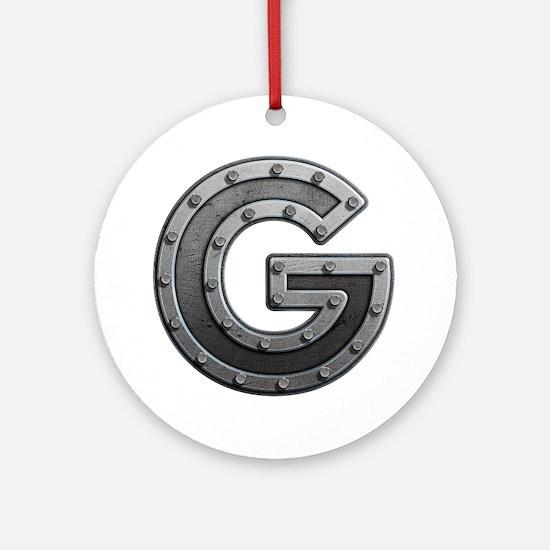 G Metal Round Ornament