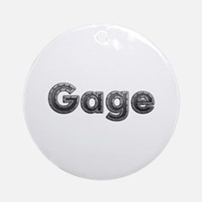 Gage Metal Round Ornament