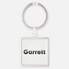 Garrett Metal Square Keychain