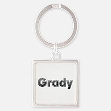Grady Metal Square Keychain