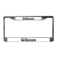 Gibson Metal License Plate Frame
