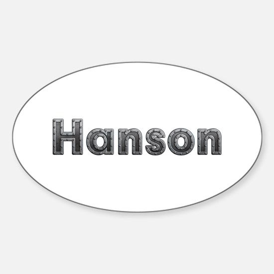 Hanson Metal Oval Decal
