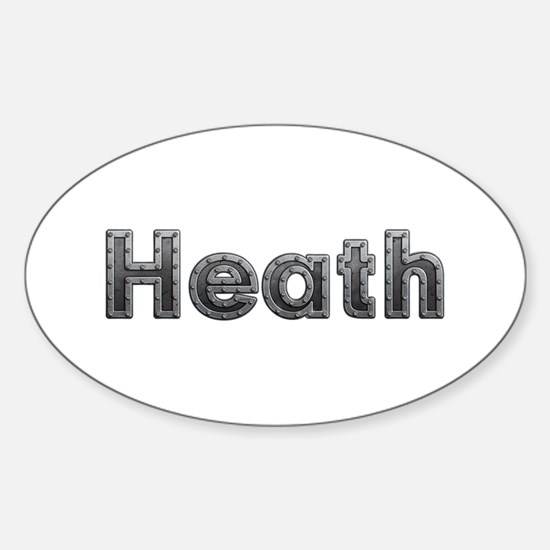 Heath Metal Oval Decal