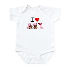 I Love ASL Beary Much! Infant Bodysuit