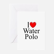 """I Love (Heart) Water Polo"" Greeting Cards (Pk of"