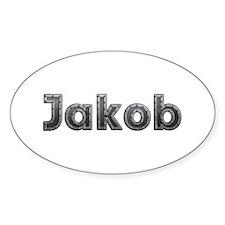 Jakob Metal Oval Decal