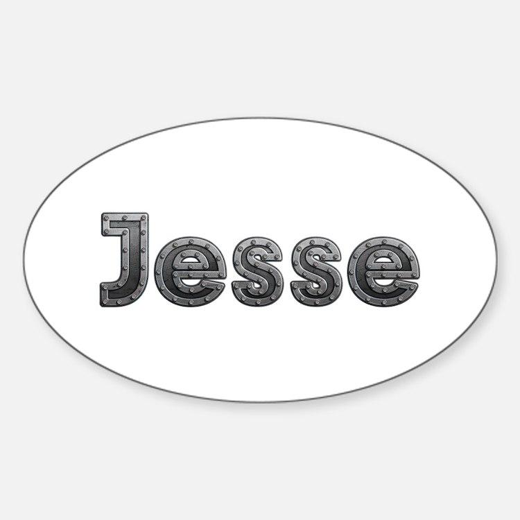 Jesse Metal Oval Decal