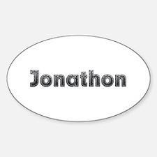 Jonathon Metal Oval Decal