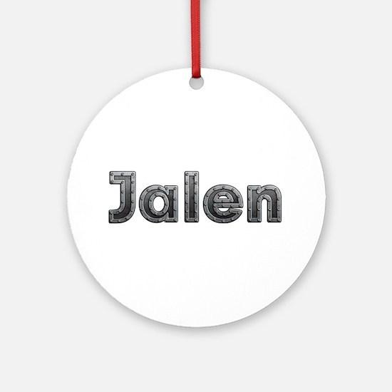 Jalen Metal Round Ornament