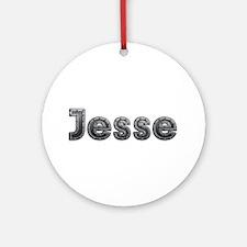 Jesse Metal Round Ornament