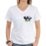Mottle OE2 Women's V-Neck T-Shirt