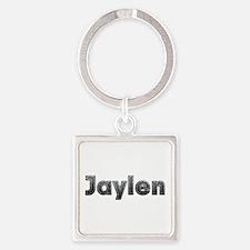 Jaylen Metal Square Keychain