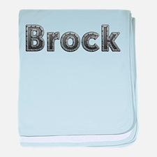 Brock Metal baby blanket