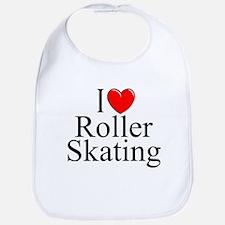 """""""I Love (Heart) Roller Skating"""" Bib"""