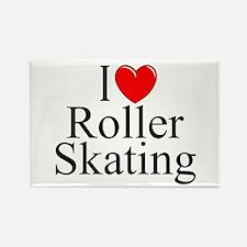 """""""I Love (Heart) Roller Skating"""" Rectangle Magnet"""