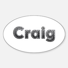 Craig Metal Oval Decal