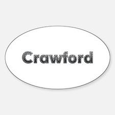 Crawford Metal Oval Decal