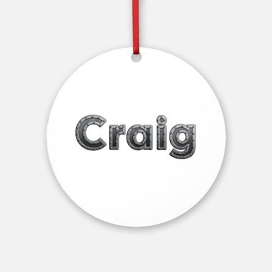 Craig Metal Round Ornament
