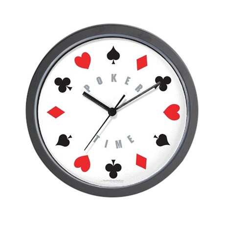 Poker Time suit wall clock