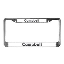 Campbell Metal License Plate Frame