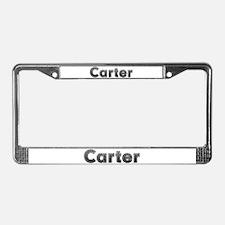 Carter Metal License Plate Frame