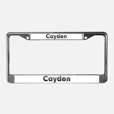 Cayden Metal License Plate Frame