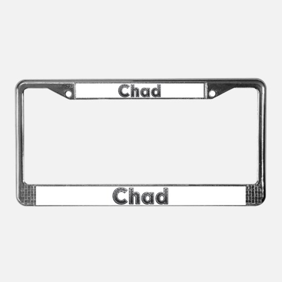 Chad Metal License Plate Frame
