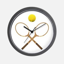 Sports - Tennis - No Txt Wall Clock