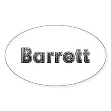 Barrett Metal Oval Decal