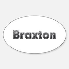 Braxton Metal Oval Decal