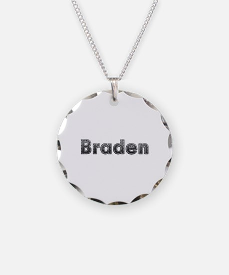 Braden Metal Necklace Circle Charm