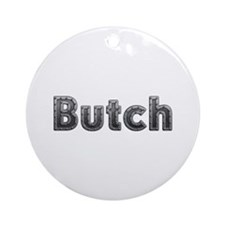 Butch Metal Round Ornament