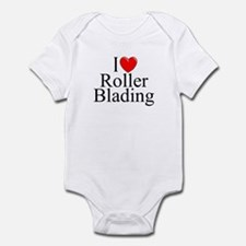 """I Love (Heart) Roller Blading"" Infant Bodysuit"