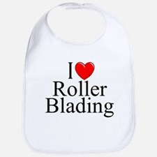 """I Love (Heart) Roller Blading"" Bib"