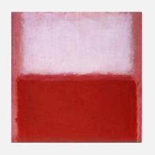 WHITE OVER RED  ROTHKO STUDY Tile Coaster