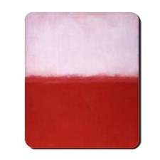 WHITE OVER RED  ROTHKO STUDY Mousepad