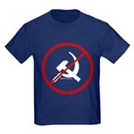 Sickle & Hammer No Communists Kids Dark T-Shirt
