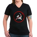 Sickle & Hammer No Communists Women's V-Neck Dark