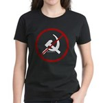 Sickle & Hammer No Communists Women's Dark T-Shirt