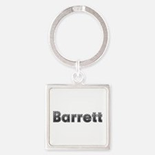 Barrett Metal Square Keychain