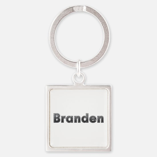 Branden Metal Square Keychain