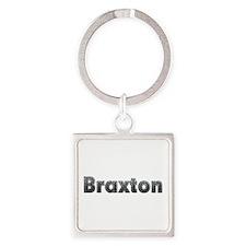 Braxton Metal Square Keychain