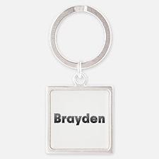 Brayden Metal Square Keychain