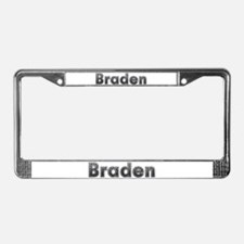 Braden Metal License Plate Frame