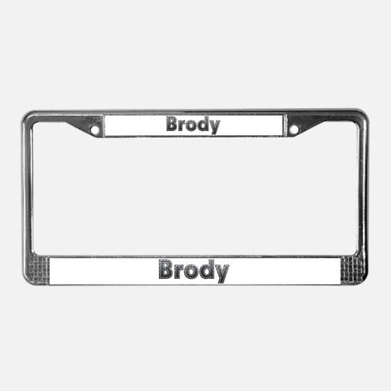 Brody Metal License Plate Frame