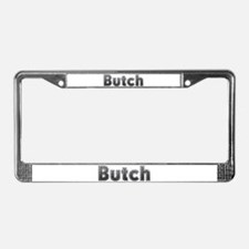 Butch Metal License Plate Frame