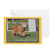 Golden Retriever Grass Birthday Greeting Card
